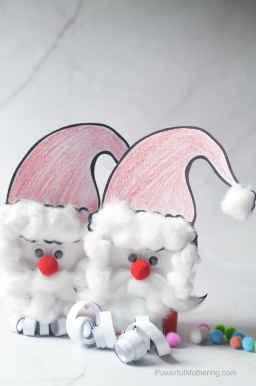 This Santa Clause craft is not only absolutely adorable but super easy. If you're spending the afternoon in, away from the cold, this is the Santa craft you want!