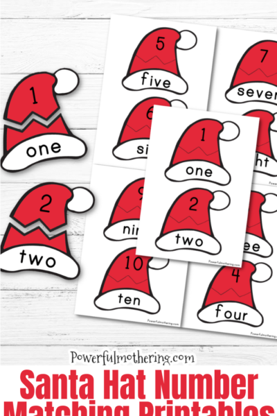 A simple Christmas inspired Number Matching Game. This printable game helps children identify numbers, number words as well as matching them together.