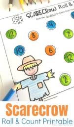 Scarecrow Number Counting Printable