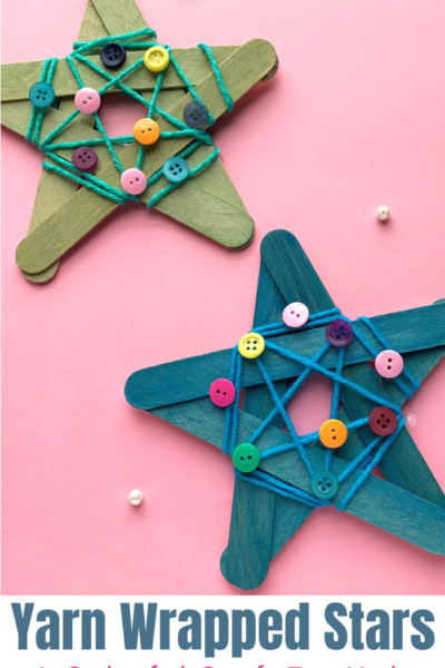 A simple and colorful Christmas craft that you can turn into a garland or ornament. Your kids will love making these!