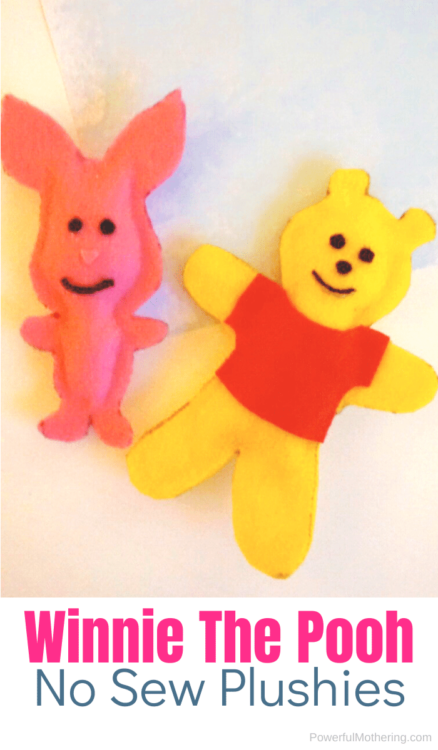 A simple DIY for the Winnie The Pooh fan. This No Sew Plushie is perfect for any crafter!