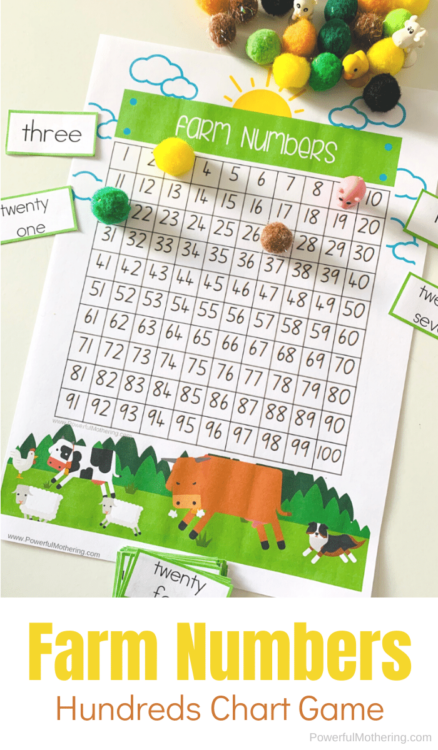 Farm Animal Hundreds Chart Game that kids wont even know how much they are learning.