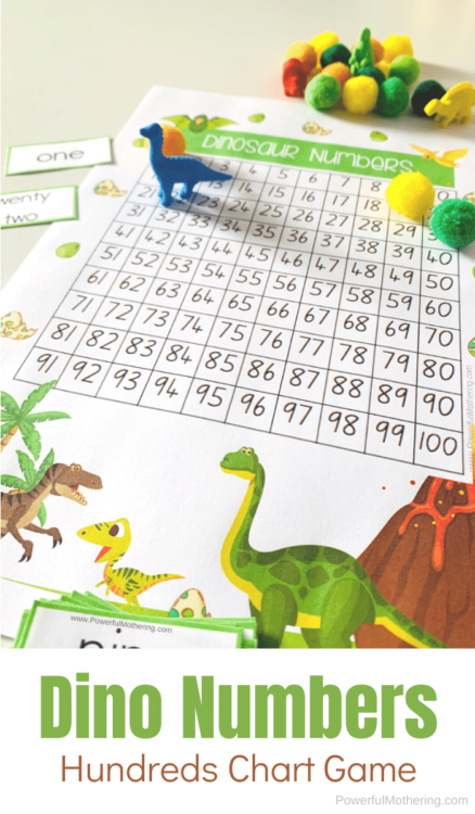 A super fun game for kids to help them learn a variety of math skills, including place value and skip counting.