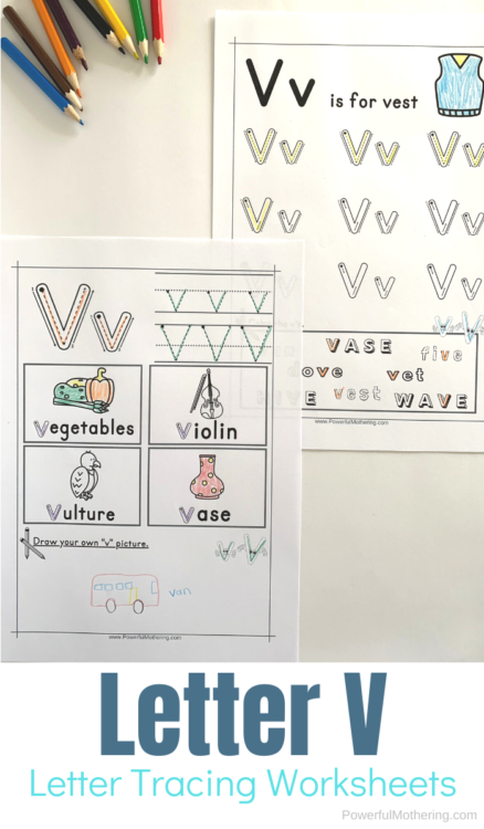 Letter Tracing Worksheets for letter U. These printables are perfect for children who need prewriting activities such as preschool and kindergarteners.