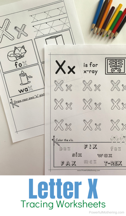 Letter X Tracing Worksheets that help children explore the letter X including beginning sounds, tracing, and more.