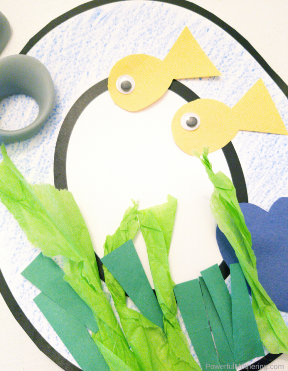 Letter of the week o craft is O is for Ocean. This craft is not only fun and simple but a great addition for your letter of the week.