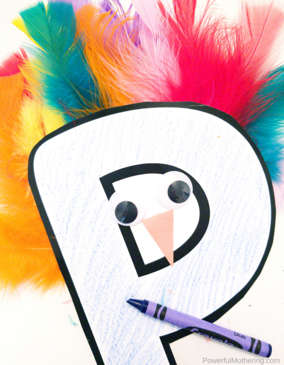 A fun Letter Of The Week P craft that kids will love. This P is for Peacock is super simple, colorful and fun!