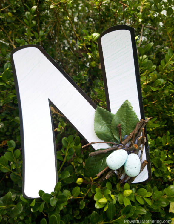 A simple Letter Of The Week N craft for kids. This N is for nest craft is one that you and your kids will love.