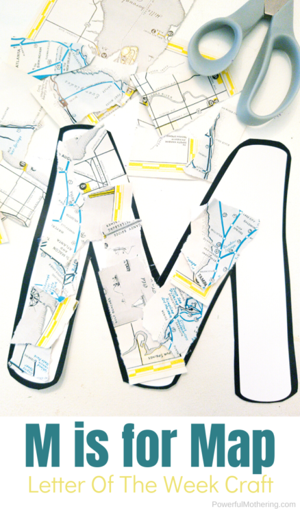 Letter of The Week M Craft For Kids. This M is for Map craft is super fun and will help kids be extra creative.
