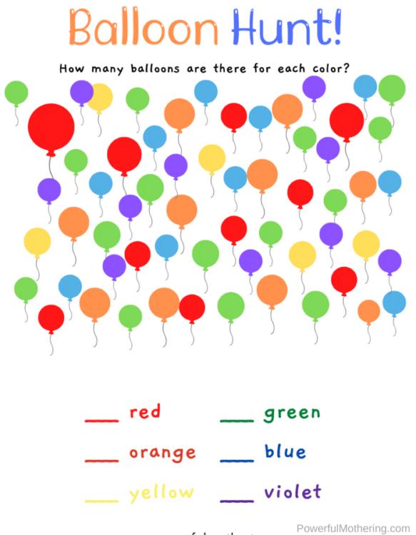 Fun Balloon Learning Activities that preschoolers will love.