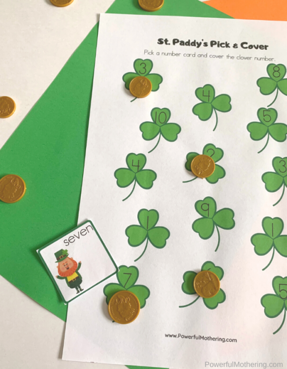 Printable learning activities for St. Patrick's Day that preschoolers will love.