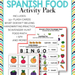 Printable Spanish Word Food Activities