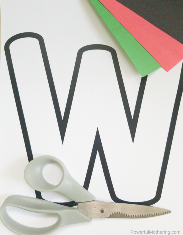 Letter W is for Watermelon Craft For Kids. Kids will love making this Watermelon Craft!