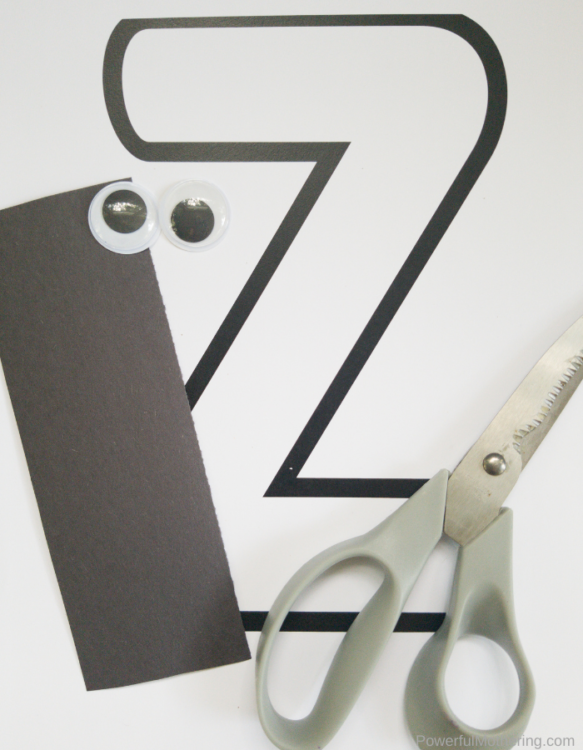 Letter Z is for Zebra craft for kids is a fun way for kids to strengthen creativity, letter recognition and more.