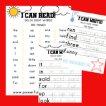 Dolch Sight Word Tracing Printables