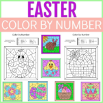 Printable Easter Color By Number Activities