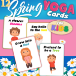Spring Yoga Cards For Kids