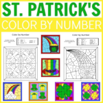 Printable St. Patrick's Day Color By Number