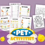 Pet Themed Learning Activity Pack For Preschoolers