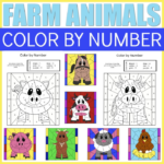 Farm Animal Color By Number