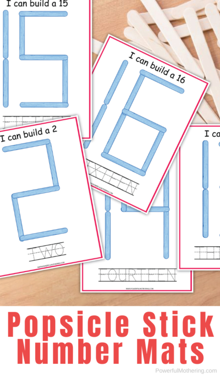 A simple and fun number recognition printable set to help children.